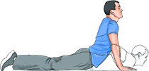 low back pain -- press-up
