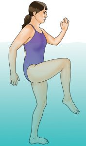 hydrotherapy knee lifts