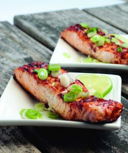 lime and chili salmon fillets