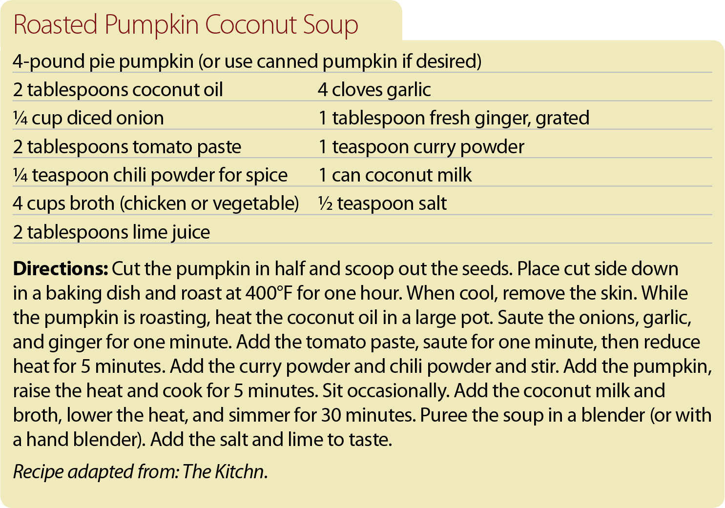 pumpkin recipe 3