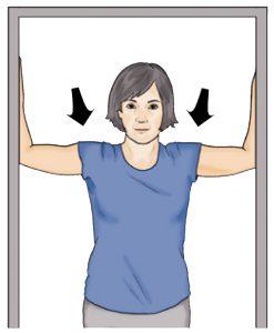 text neck shoulder doorway stretch