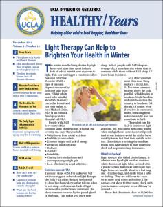 UCLA Healthy Years December 2014