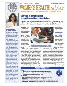 Women's Health Advisor: September 2015