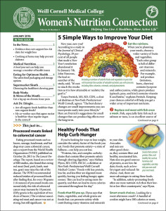Weill Cornell Women's Nutrition Connection 2016-01