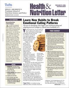 Tufts University S Health And Nutrition Letter Hnl University