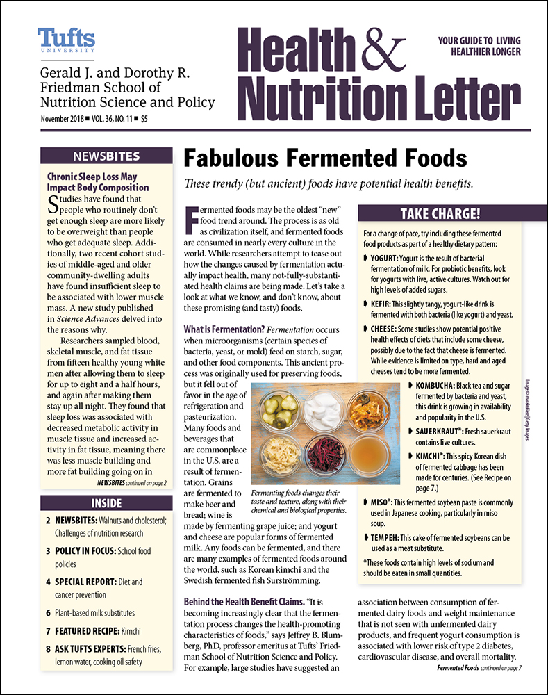 Tufts University Health and Nutrition Letter 2