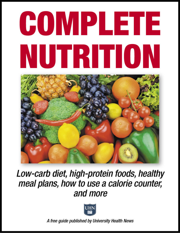 Complete Nutrition: Low-carb diet, high-protein foods, healthy meal plans, how to use a calorie counter, and more