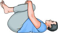 low back pain -- knee hug