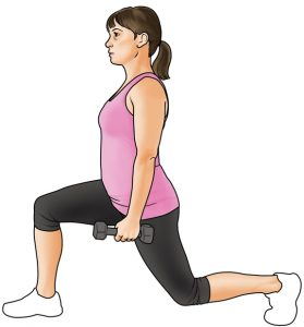 strength training dumbbell lunges