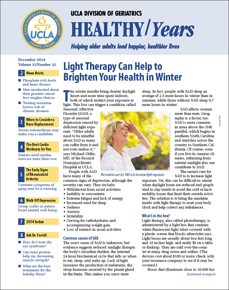 UCLA Healthy Years December 2014