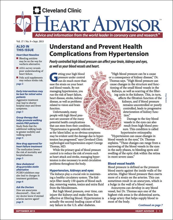 Heart Advisor: September 2015
