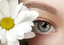Woman's eyes illustrating eye health