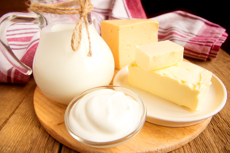 Foods that can produce dairy intolerance symptoms