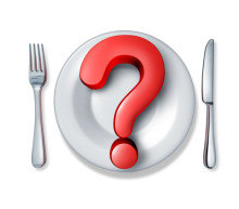 """illustration of a plate and a question mark to represent """"why am I always hungry"""""""