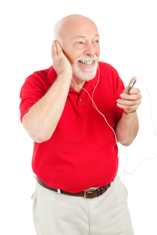 dementia patient listening to music
