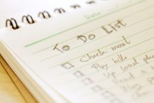 A to do list of healthy habits