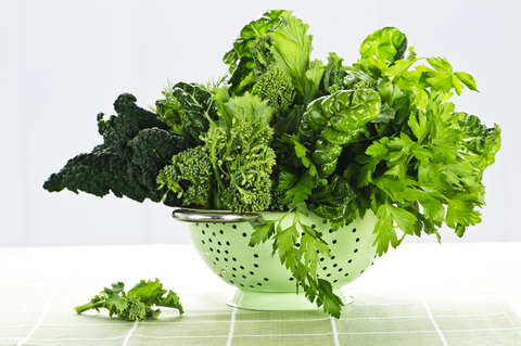 leafy green vegetables area great source of omega-6s