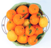 A basket of oranges with vitamin c benefits